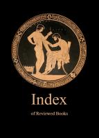 Index of reviewed books