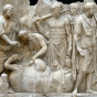 Roman marble relief of augers at work