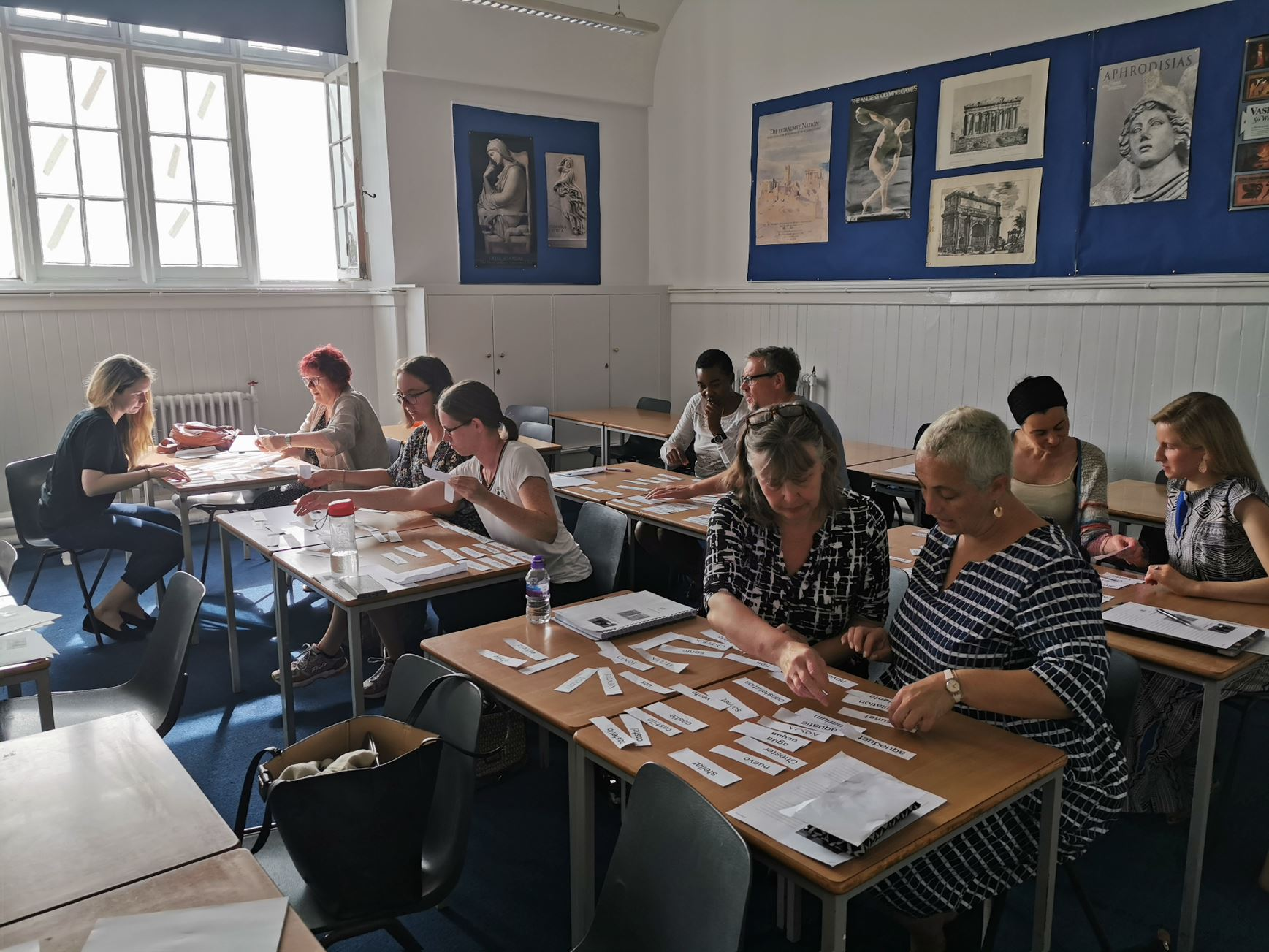 Teachers engaged in a primary classics workshop in 2019